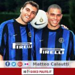 Ronaldo e Christian Vieri con la maglia dell'Inter. © Edited by MATTEO CALAUTTI
