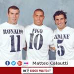 Zinedine Zidane, Ronaldo e Luís Figo. © Edited by MATTEO CALAUTTI