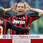 Esultanza di Ronaldo al Milan del derby contro l'Inter. © Edited by MATTEO CALAUTTI