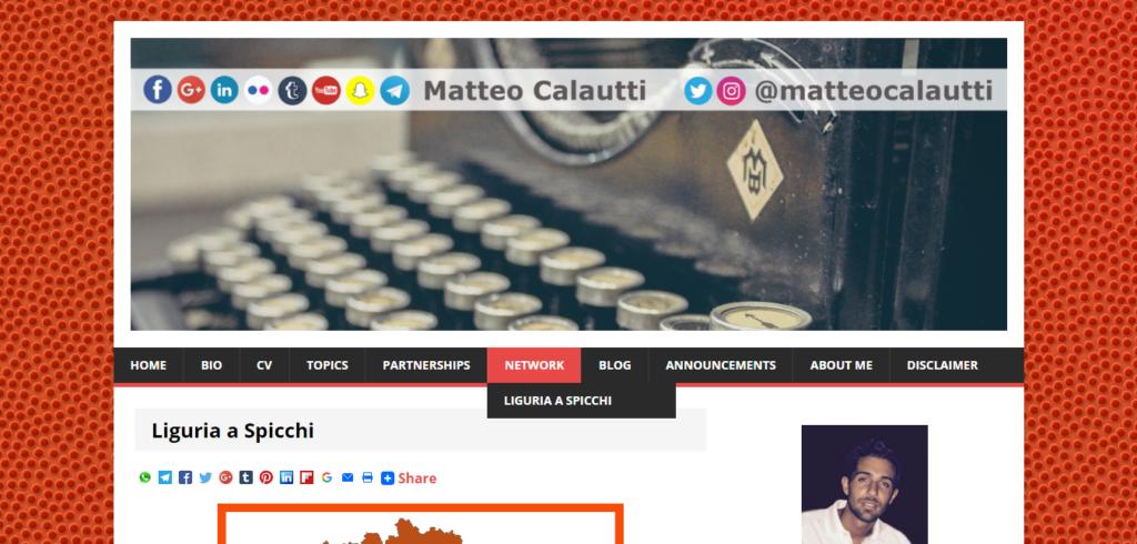 Ecco dove trovare Liguria a Spicchi nel nuovo menù del sito.