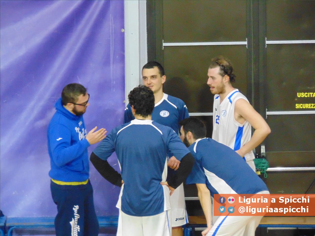 Coach Matteo Barbieri con Riccardo Mortara, Alessandro Grazzi, Jacopo Oneto e Davide Bovone © LIGURIA A SPICCHI