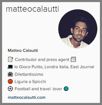 Instagram @matteocalautti