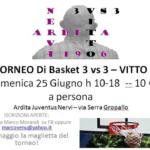 #DUETIRI – XI edizione del Torneo 3vs3 Vitto dell'Ardita Juventus il 25 giugno
