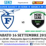 Amichevole di lusso a La Spezia il 16 settembre con la Fortitudo Bologna e la Mens Sana Siena