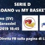 ESCLUSIVA LS – Diretta video di Loano vs MY Basket di Serie D